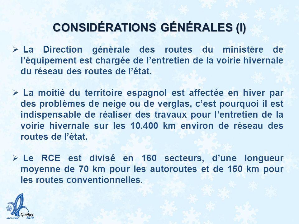 CONSIDÉRATIONS GÉNÉRALES (I)