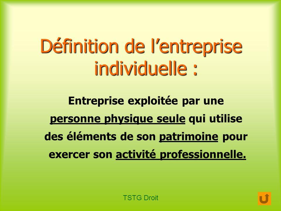 Définition de l'entreprise individuelle :