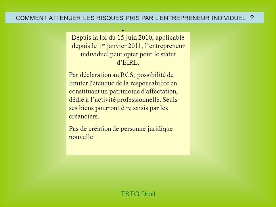 COMMENT ATTENUER LES RISQUES PRIS PAR L'ENTREPRENEUR INDIVIDUEL