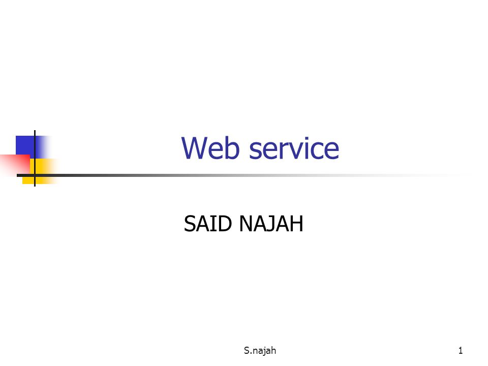 Web service SAID NAJAH S.najah