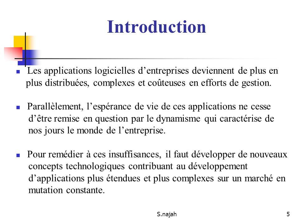 Introduction Les applications logicielles d'entreprises deviennent de plus en. plus distribuées, complexes et coûteuses en efforts de gestion.