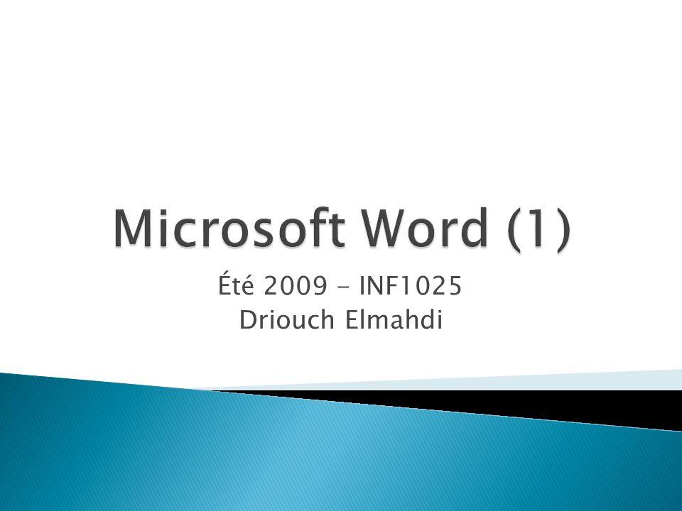 Été 2009 - INF1025 Driouch Elmahdi