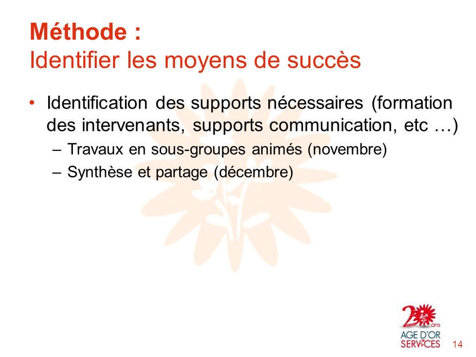 Méthode : Identifier les moyens de succès