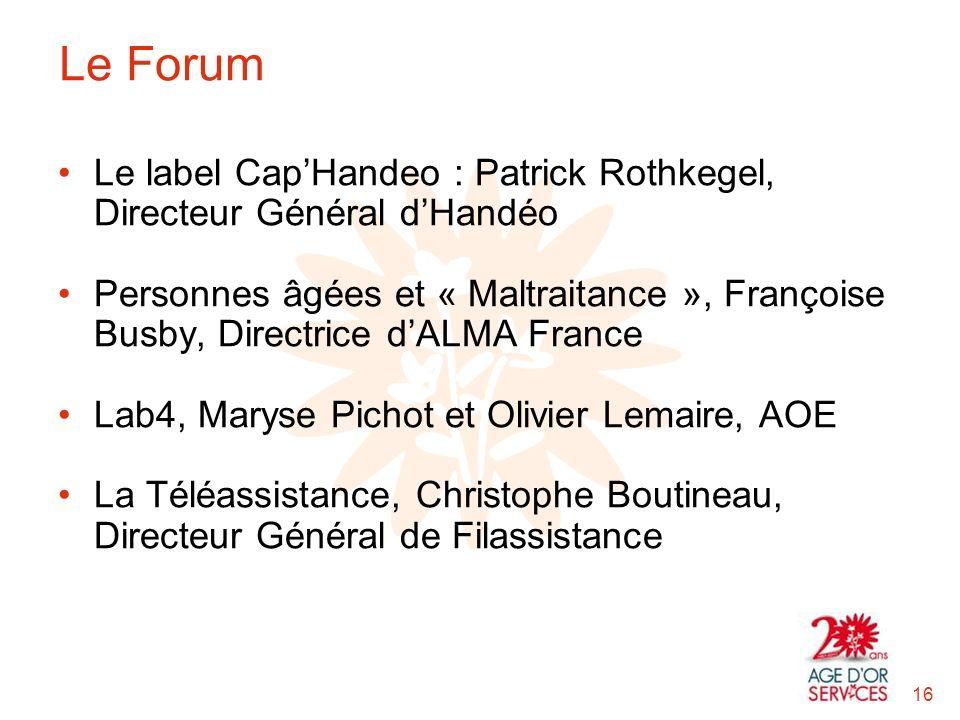 Le Forum Le label Cap'Handeo : Patrick Rothkegel, Directeur Général d'Handéo.