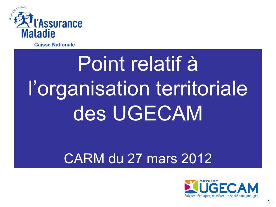 Point relatif à l'organisation territoriale des UGECAM