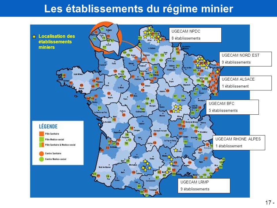 Les établissements du régime minier