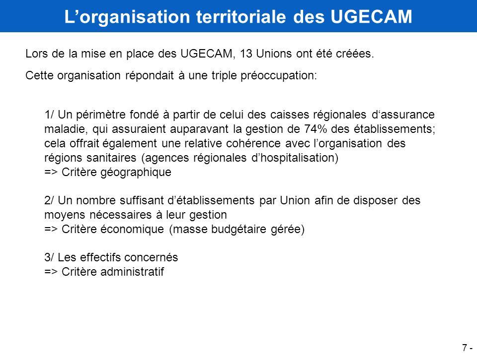 L'organisation territoriale des UGECAM
