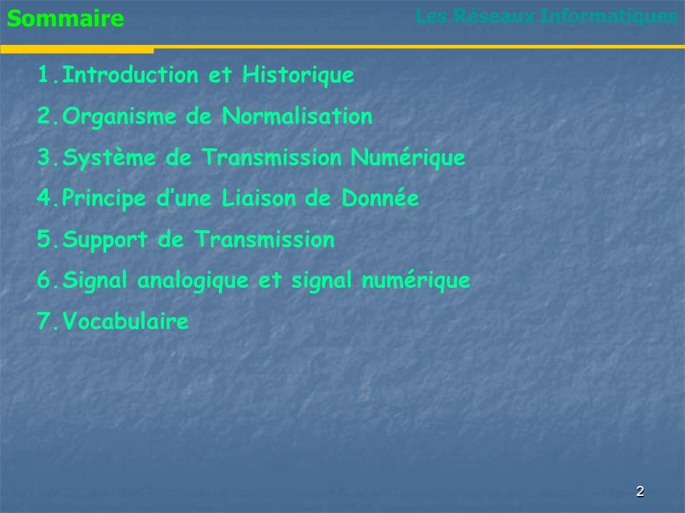 Introduction et Historique Organisme de Normalisation