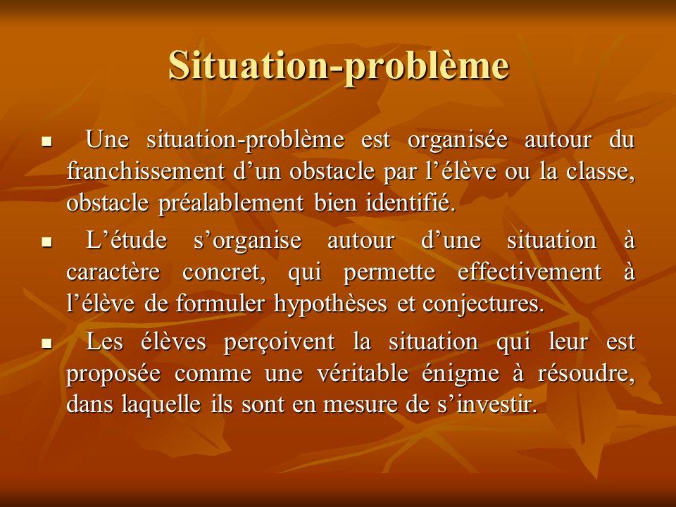 Situation-problème