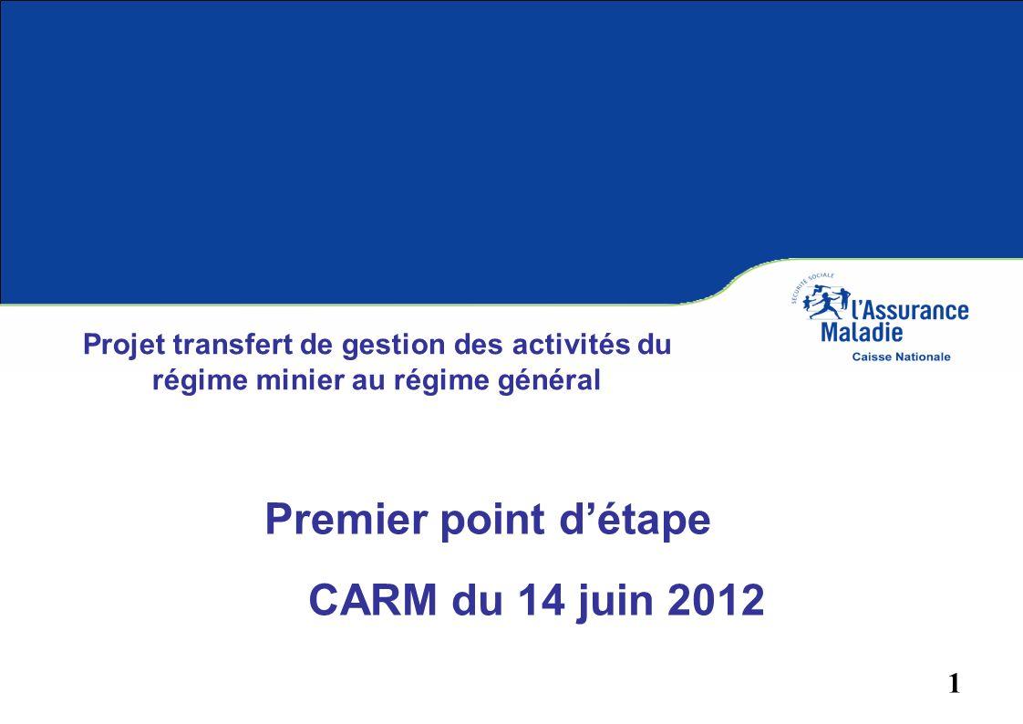 CARM du 14 juin 2012 Premier point d'étape