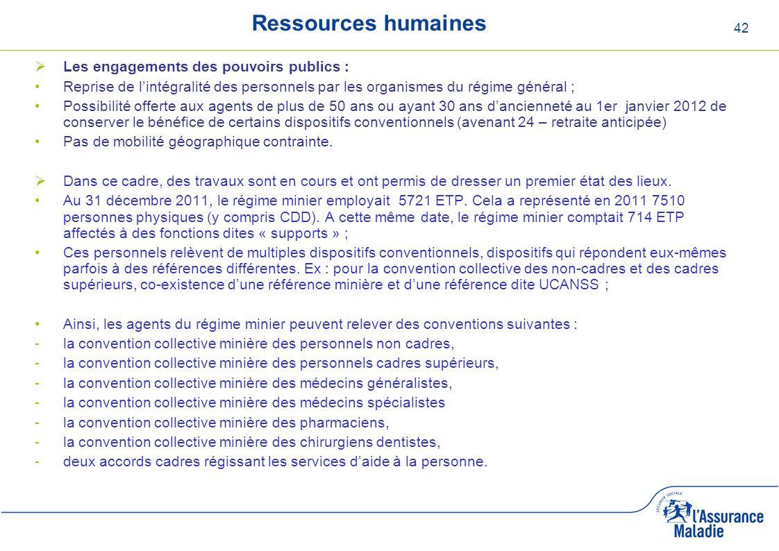 Ressources humaines Les engagements des pouvoirs publics :