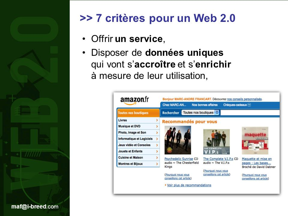 >> 7 critères pour un Web 2.0