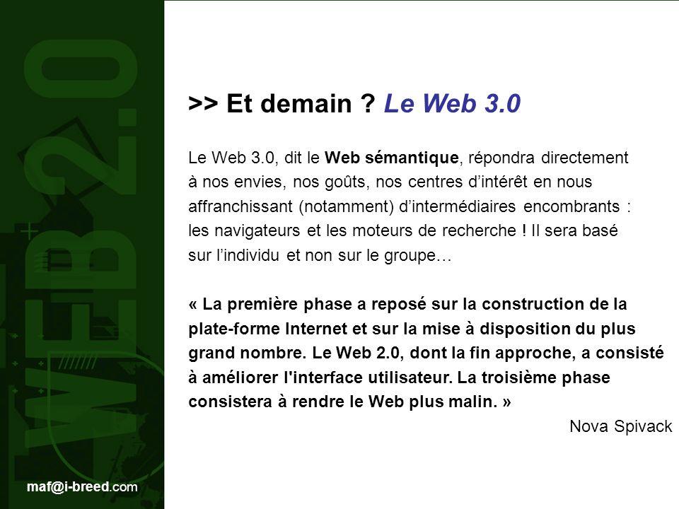 >> Et demain Le Web 3.0