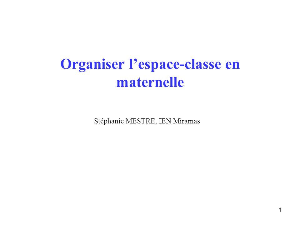 Organiser l'espace-classe en maternelle