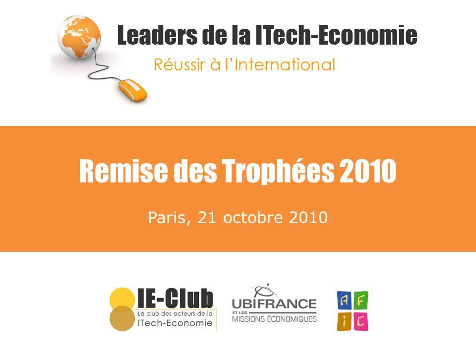 Remise des Trophées 2010 Paris, 21 octobre 2010