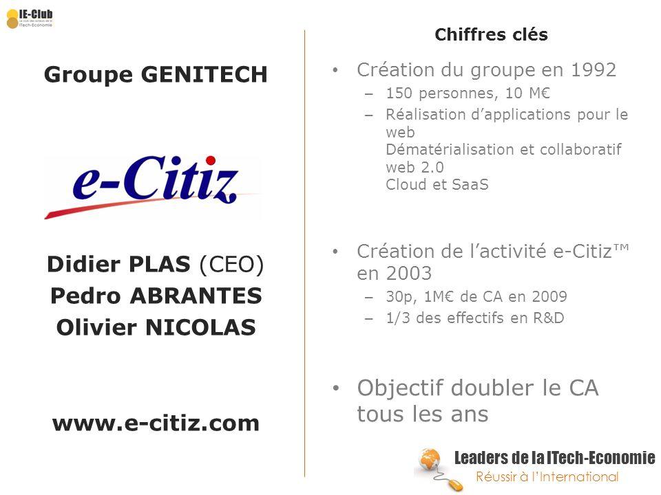 Groupe GENITECH Olivier NICOLAS www.e-citiz.com