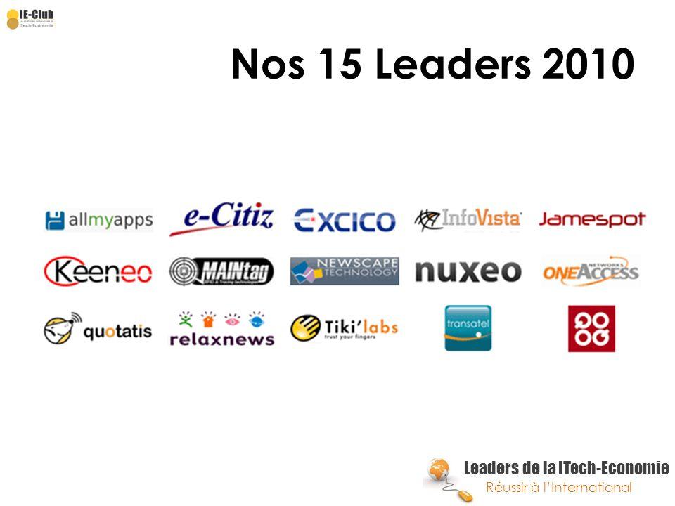 Nos 15 Leaders 2010
