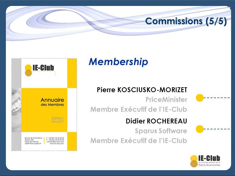 Membership Commissions (5/5) Pierre KOSCIUSKO-MORIZET PriceMinister