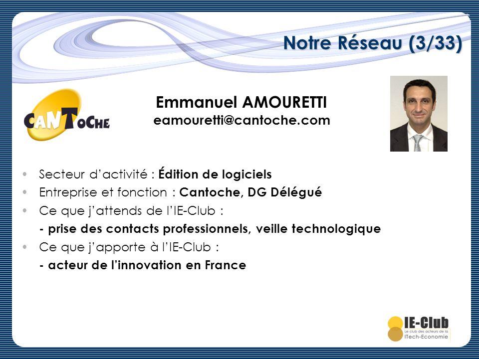 Emmanuel AMOURETTI eamouretti@cantoche.com