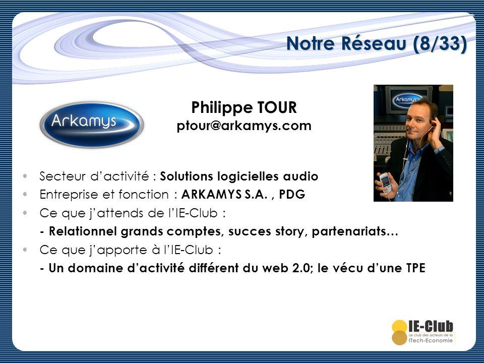 Philippe TOUR ptour@arkamys.com