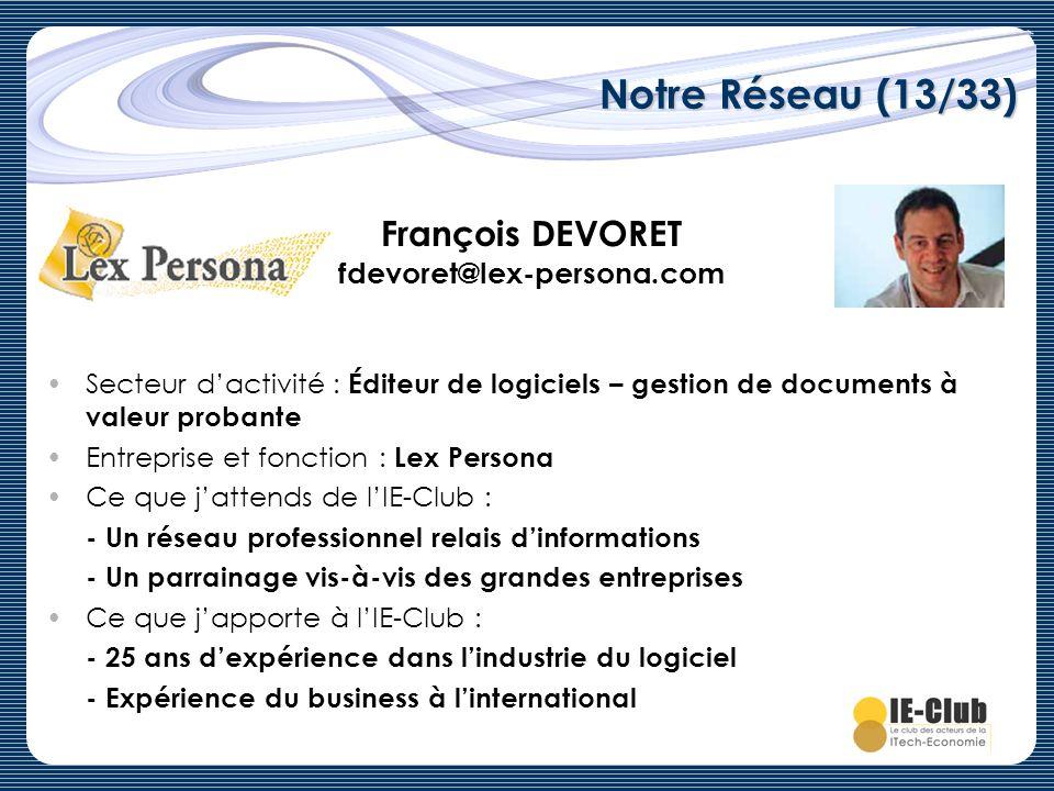 François DEVORET fdevoret@lex-persona.com