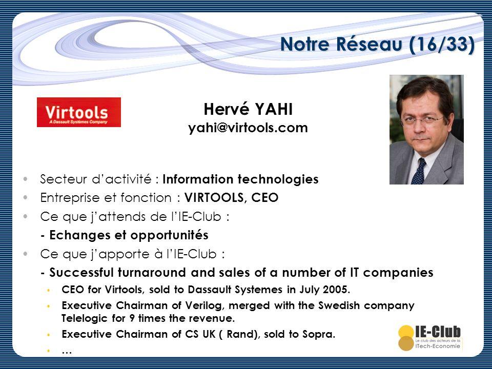 Notre Réseau (16/33) Hervé YAHI yahi@virtools.com