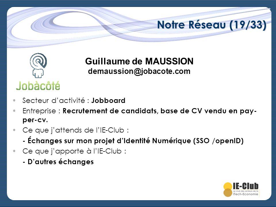Guillaume de MAUSSION demaussion@jobacote.com