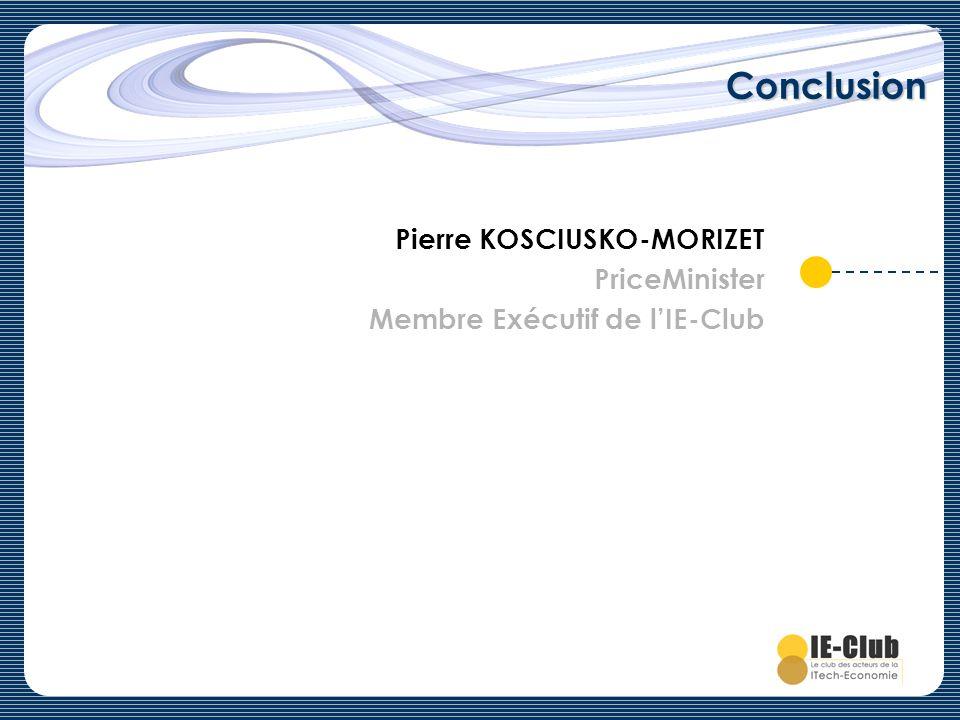 Conclusion Pierre KOSCIUSKO-MORIZET PriceMinister