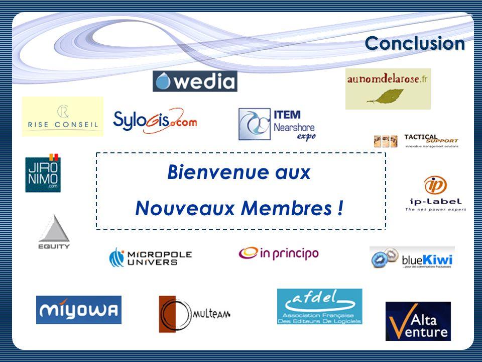 Bienvenue aux Nouveaux Membres !