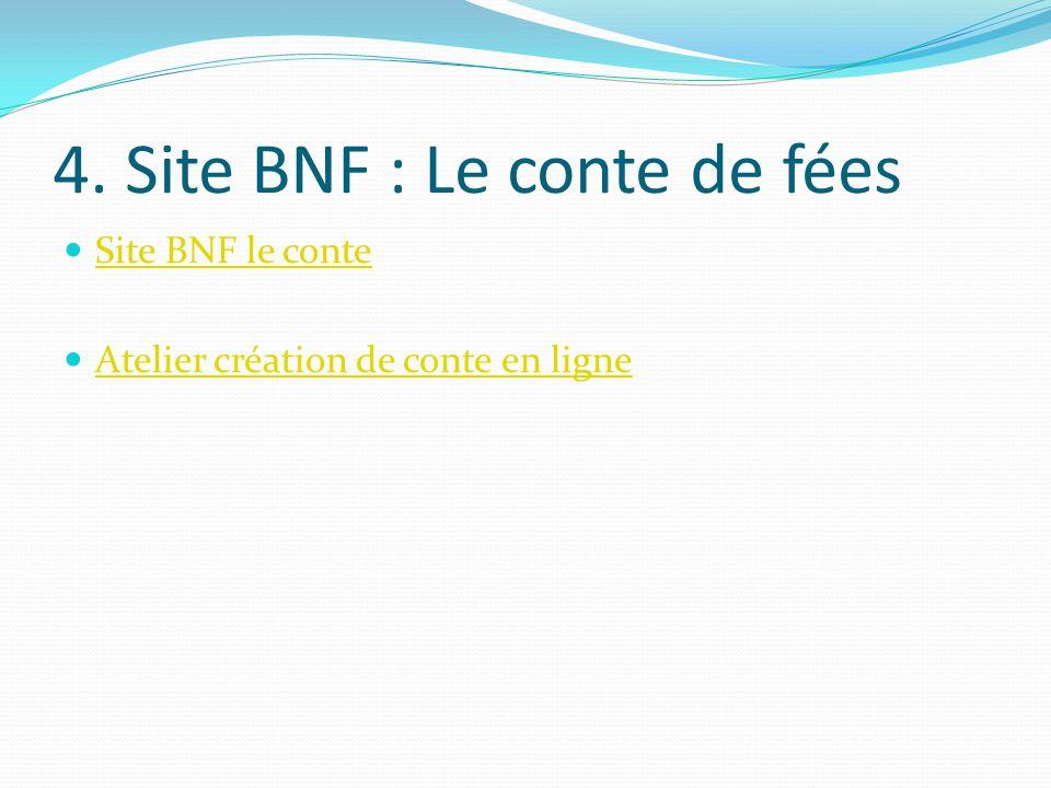 4. Site BNF : Le conte de fées