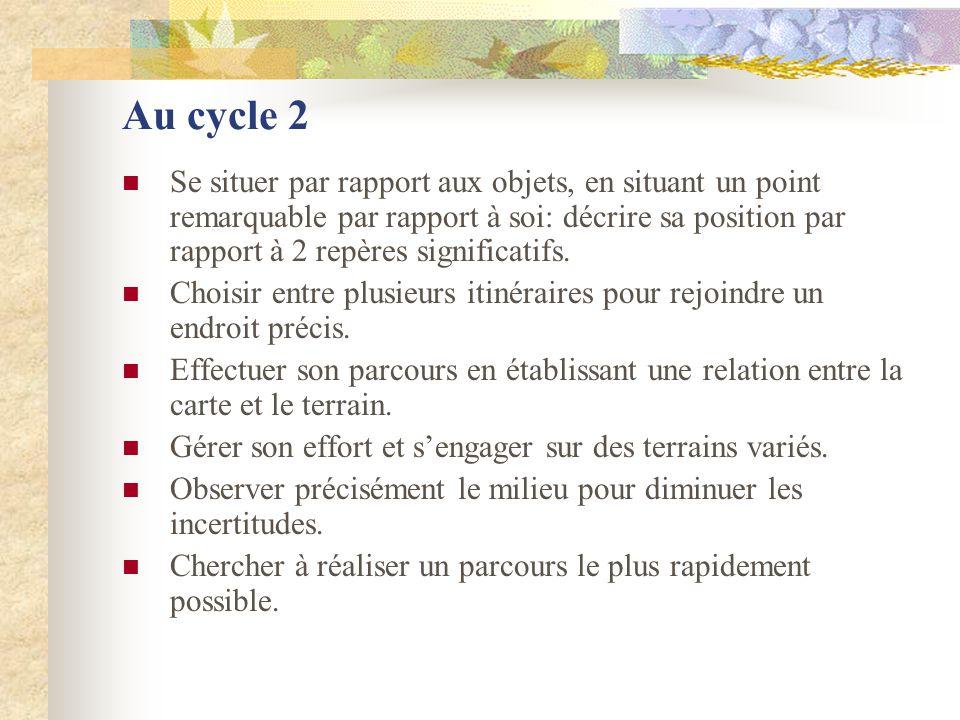Au cycle 2