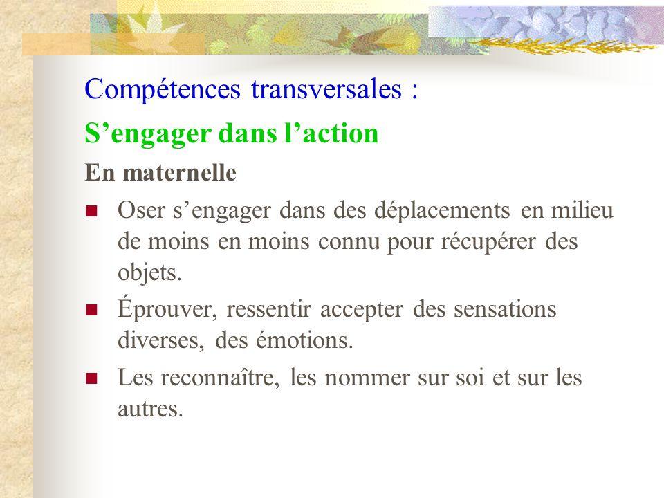 Compétences transversales :