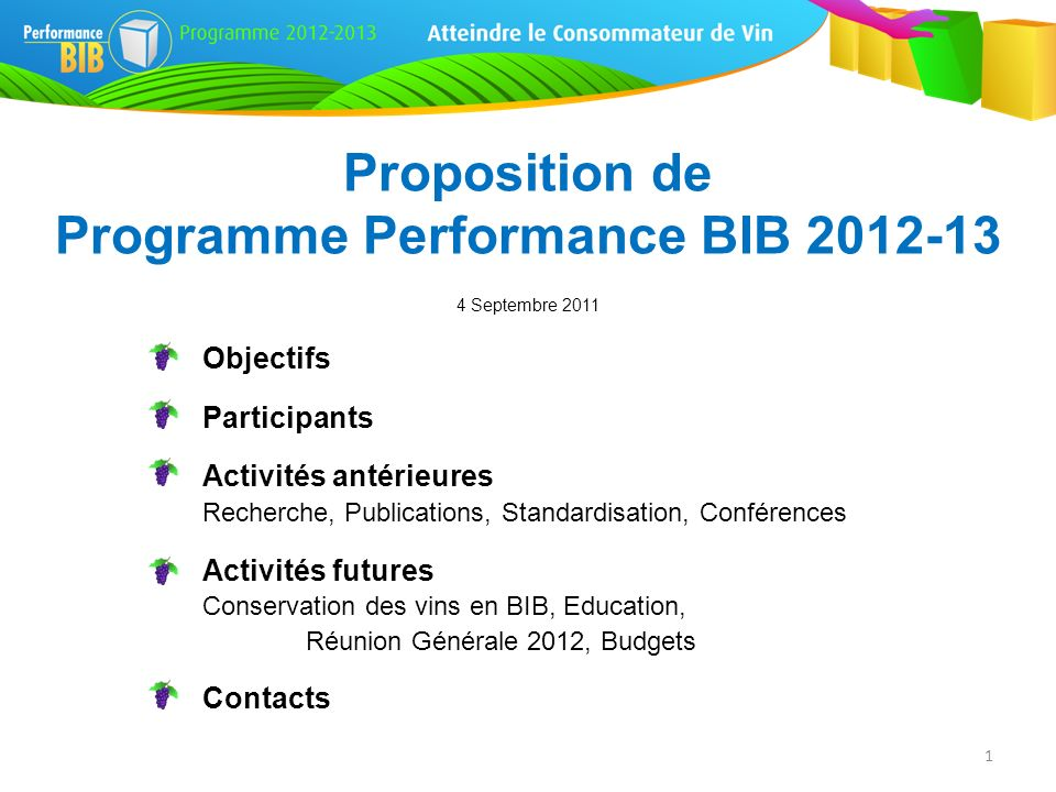 Programme Performance BIB 2012-13