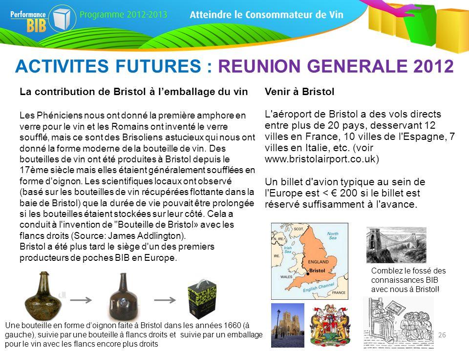ACTIVITES FUTURES : REUNION GENERALE 2012
