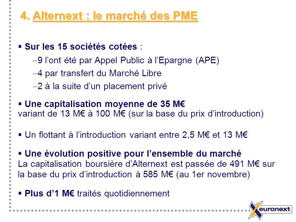 4. Alternext : le marché des PME