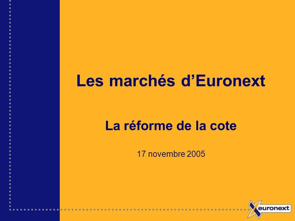 Les marchés d'Euronext