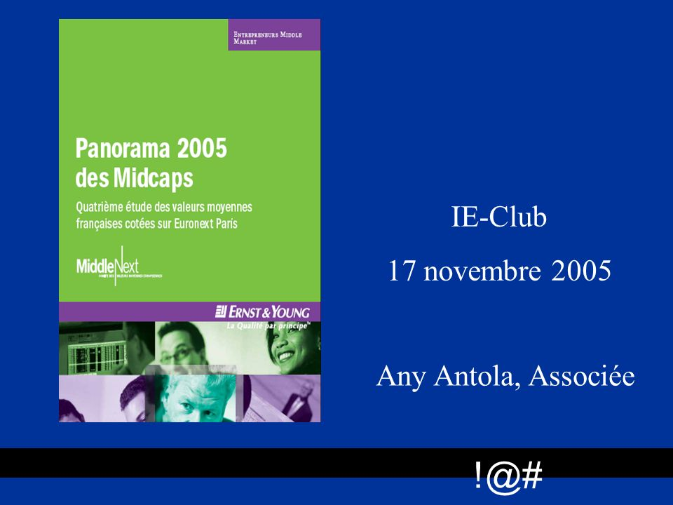 IE-Club 17 novembre 2005 Any Antola, Associée !@#