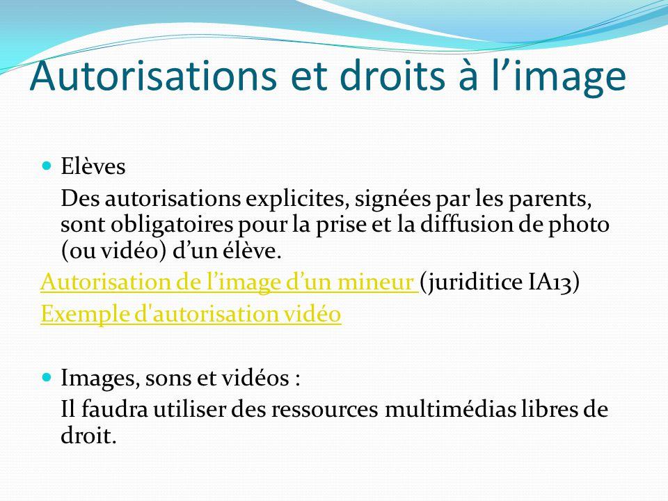 Autorisations et droits à l'image