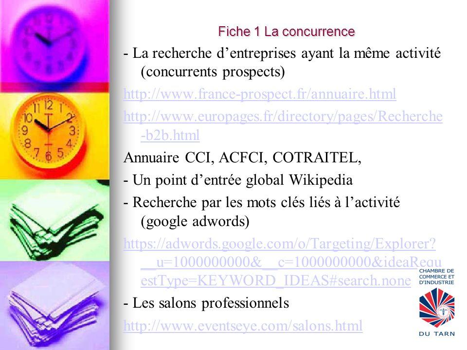 Annuaire CCI, ACFCI, COTRAITEL, - Un point d'entrée global Wikipedia