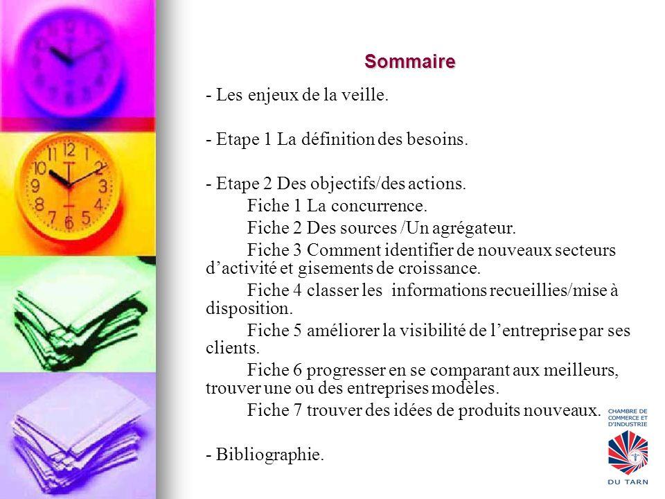 - Etape 1 La définition des besoins.
