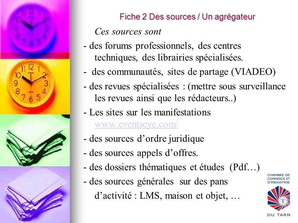 Fiche 2 Des sources / Un agrégateur