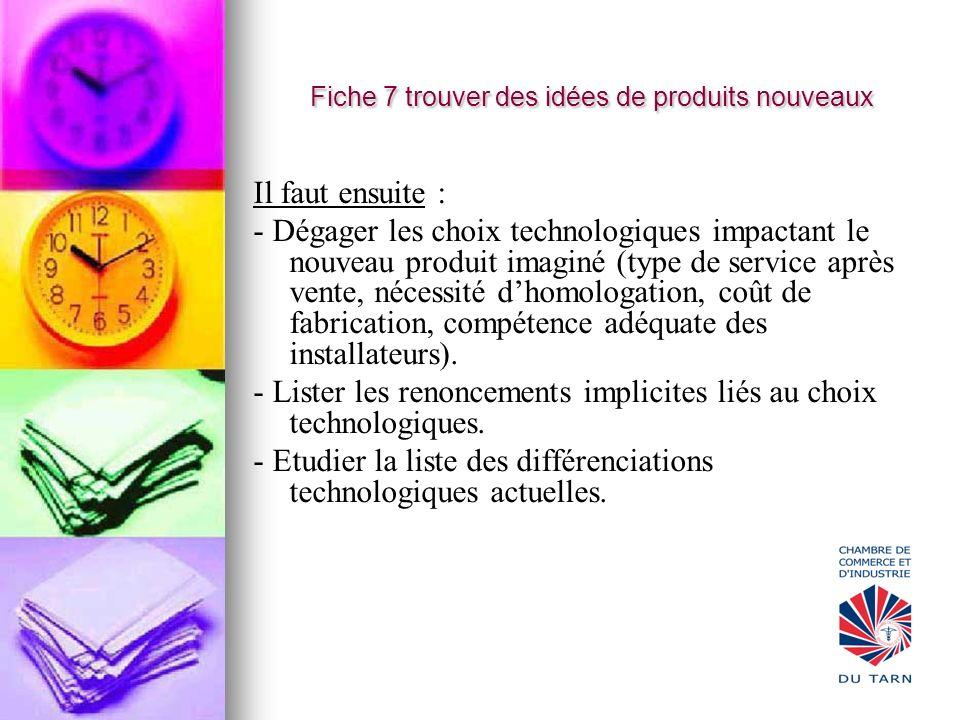 Fiche 7 trouver des idées de produits nouveaux