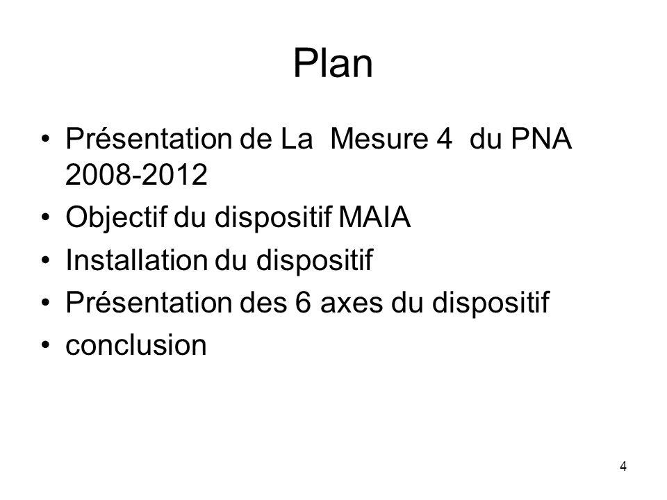 Plan Présentation de La Mesure 4 du PNA 2008-2012