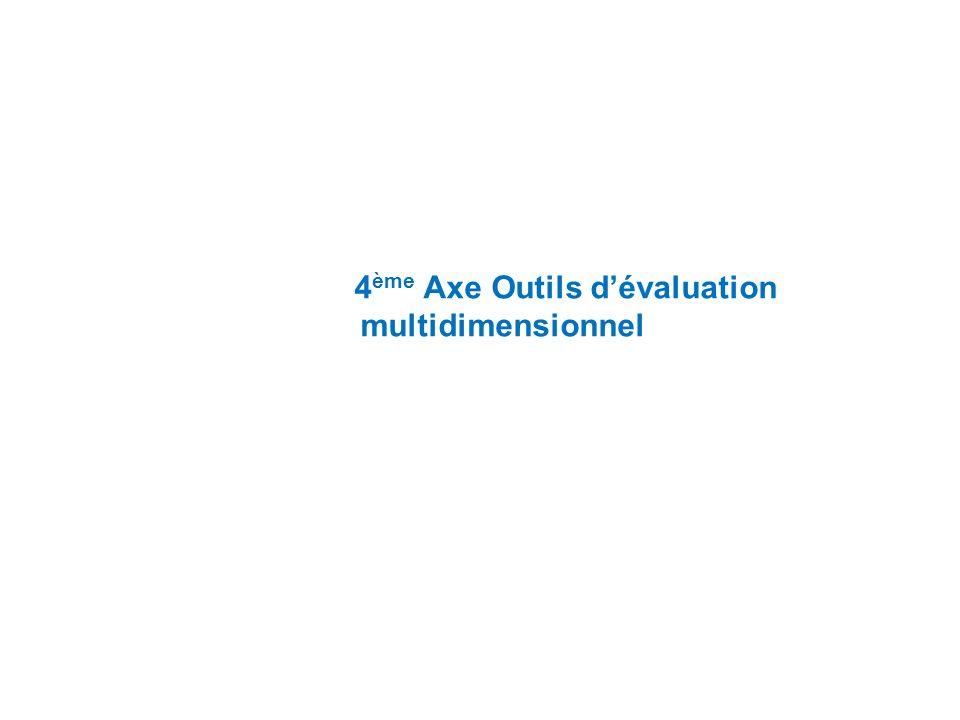 4ème Axe Outils d'évaluation multidimensionnel