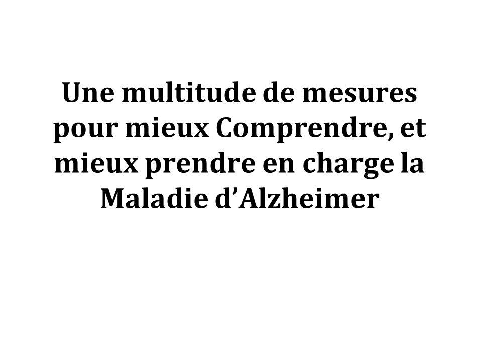 Une multitude de mesures pour mieux Comprendre, et mieux prendre en charge la Maladie d'Alzheimer