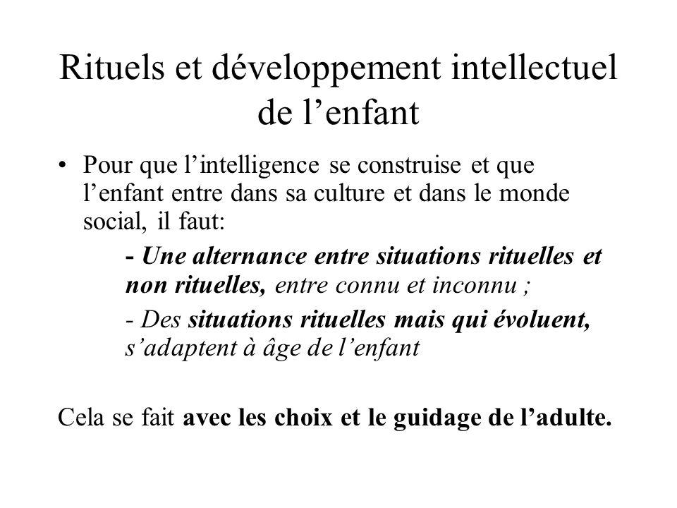 Rituels et développement intellectuel de l'enfant