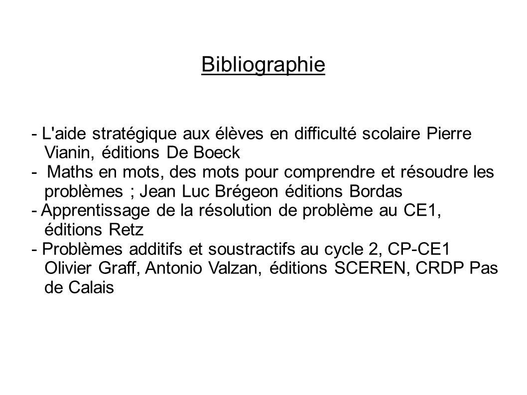 Bibliographie - L aide stratégique aux élèves en difficulté scolaire Pierre Vianin, éditions De Boeck.