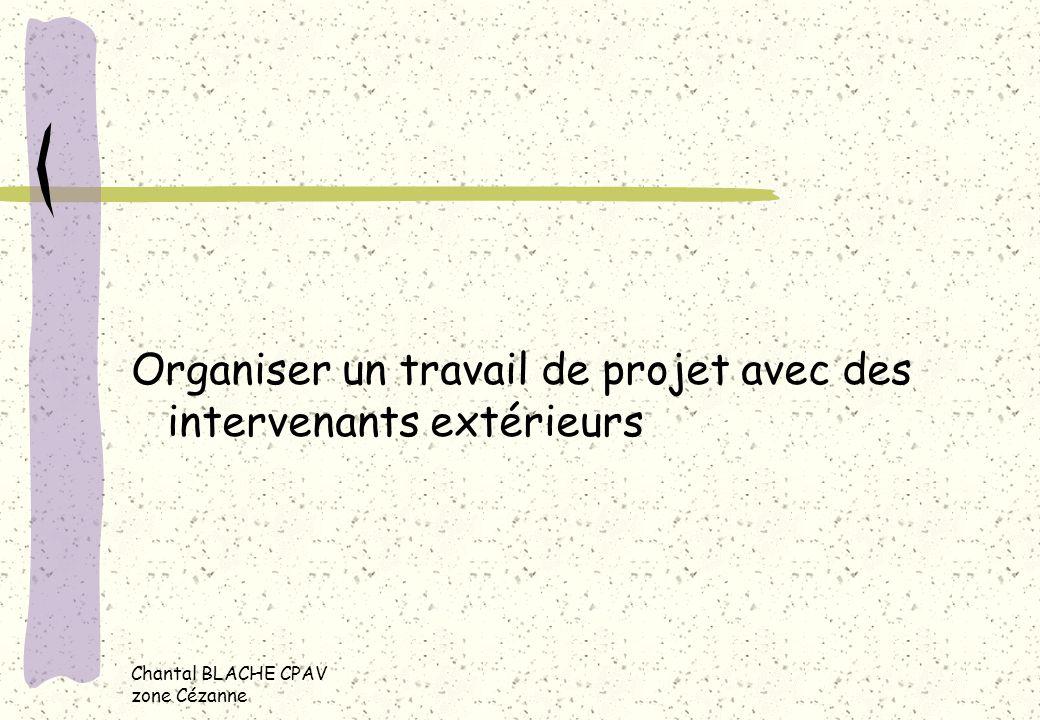 Organiser un travail de projet avec des intervenants extérieurs