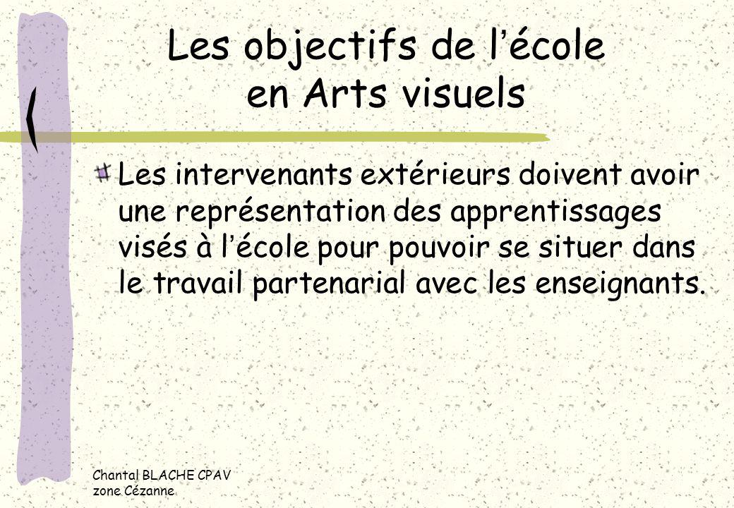 Les objectifs de l'école en Arts visuels
