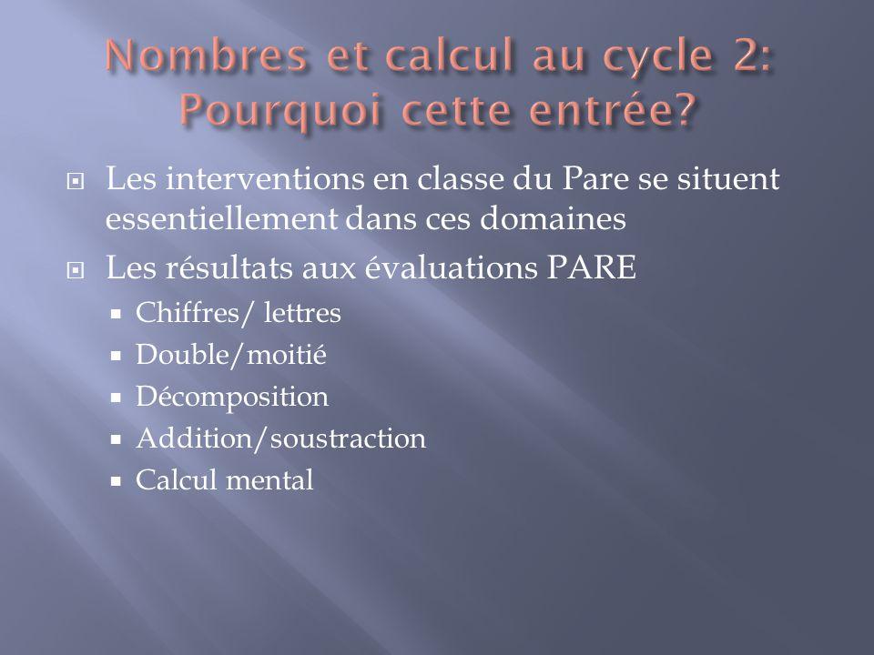 Nombres et calcul au cycle 2: Pourquoi cette entrée